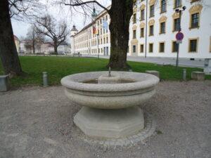 Schwegelinbrunnen vor der fürstäbtichen Residenz in Kempten