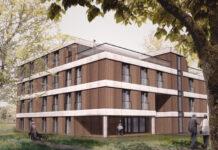 So könnte das neue Gebäude der Lebenshilfe nach einem ersten Entwurf aussehen. (Foto: Feldmann-Architekten)