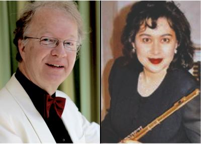 Norbert Henß (Flügel) und Irina Hofmann (Flöte)