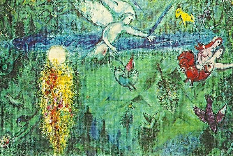 Die Vertreibung aus dem Paradies von Marc Chagall