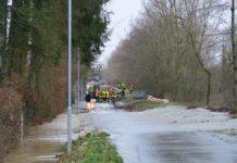 Hochwasser am Inheiden/Trais-Horloffer See