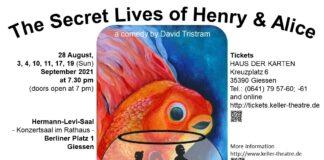 "Poster ""The Secret Lives of Henry & Alice, the Keller Theatre"