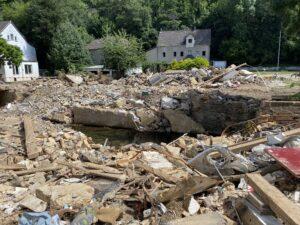 Große Zerstörung in Teilen der Innenstadt von Bad Münstereifel