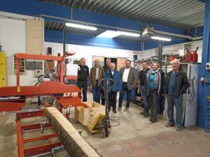 Die Wettenberger Delegation um Bürgermeisterkandidat Marc Nees zu Besuch in der Produktionsschule am Abendstern